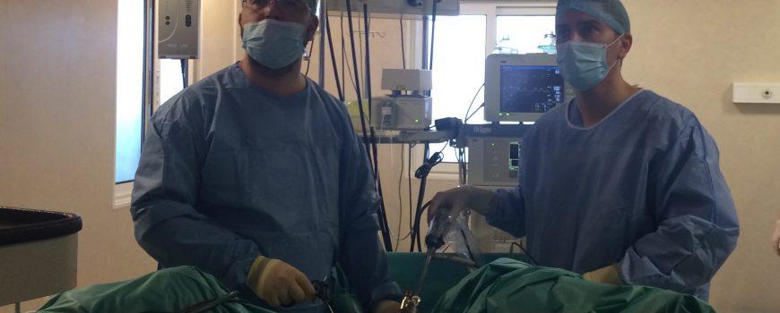 Sarcina cu evolutie favorabila dupa miomectomie laparoscopica (fibrom uterin voluminos – 12 cm)